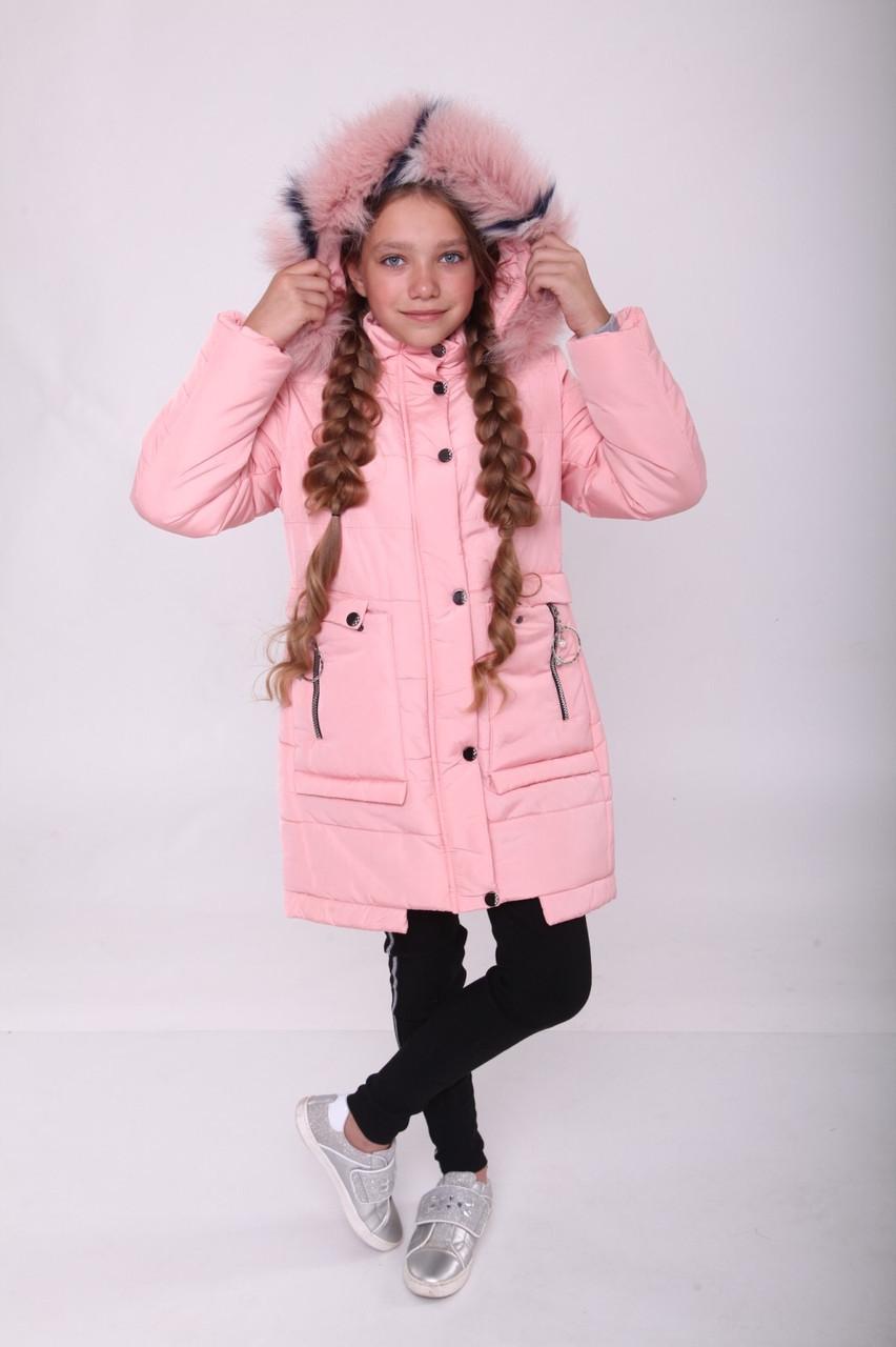 Куртки зимние для девочек 34-42 от производителя 32-40 Розовый