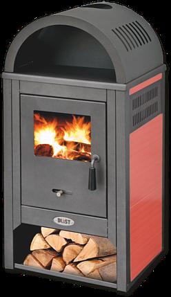Піч-камін Blist Diplomat Lux 10 кВт печі опалювально варильні для дому та дачі, фото 2