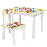 Детский столик BSM2K-06 со стульчиком, малыш и мишка