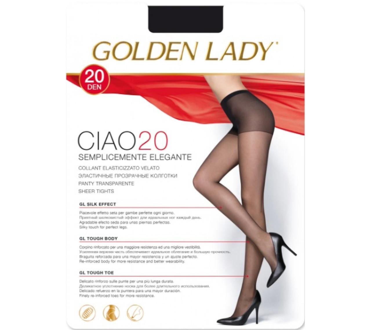 Колготки жіночі Golden Lady Ciao 20 den ОПТ, всі розміри, в се кольору, колготки Omsa