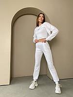 Жіночий модний спортивний костюм-трійка з двунити в кольорах (Норма), фото 3