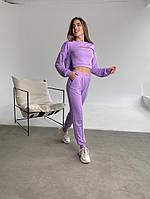Жіночий модний спортивний костюм-трійка з двунити в кольорах (Норма), фото 10