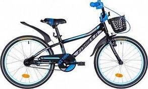 "Велосипед Formula 20"" NITRO Vbr Al рама 10"" ('чёрно-синий) с корзиной"
