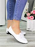 Туфли белые кожаные женские, фото 3