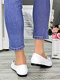 Туфли белые кожаные женские, фото 4