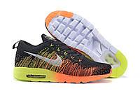 Кроссовки мужские Nike Air Max Flyknit 2014, кроссовки найк флайнит 2014, кроссовки черные, обувь оригинальная