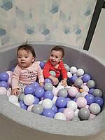 Сухой бассейн с шариками в комплекте серого цвета 100 х 40 см