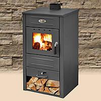 Чугунная печь-камин Blist B2 E с водным контуром 13 кВт печи чугунные отопительно варочные для дома и дачи