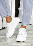 Кожаные белые кроссовки женские, фото 2