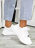 Кожаные белые кроссовки женские, фото 3