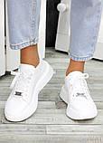 Кожаные белые кроссовки женские, фото 4