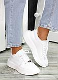 Кожаные белые кроссовки женские, фото 5