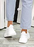 Кожаные белые кроссовки женские, фото 6