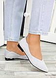 Женские замшевые туфли серые, фото 2