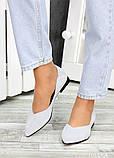 Женские замшевые туфли серые, фото 4