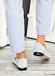 Женские замшевые туфли серые, фото 5