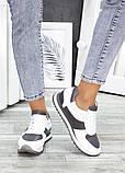 Жіночі кросівки шкіряні білі, фото 2