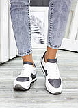 Жіночі кросівки шкіряні білі, фото 3