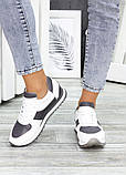 Жіночі кросівки шкіряні білі, фото 4