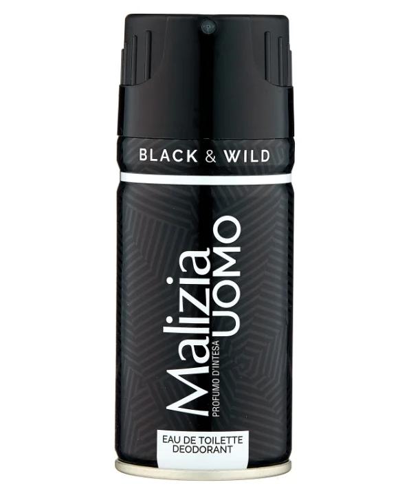 Парфумований Дезодорант Malizia Uomo Black&Wild 150 мл Італія