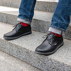Мужские кожаные туфли классические   40-45 чёрный тайфун
