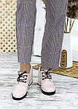 Жіночі туфлі шкіряні на підборі пудра, фото 7