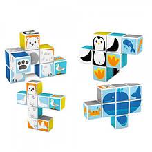 Конструктор магнітний для дітей Smart Кубики для малюків тварини арт.KK1711334