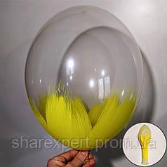 Желтый на Прозрачных латексных шарах