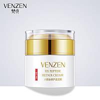 Разглаживающий крем для лица с гексапептидом-11 Venzen Six Peptide Repair Cream, 50г