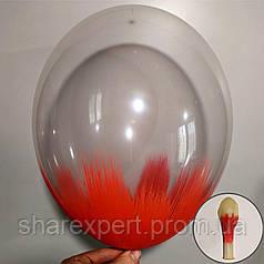 Красный на Прозрачных латексных шарах