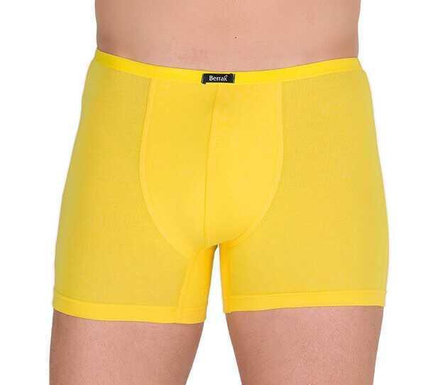Трусы мужские на узкой резинке Berrak  желтые