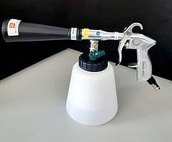 Пистолет для химчистки салона автомобиля пневматический (Торнадор) со сменной насадкой-щеткой AIRKRAFT WG-2050