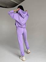 Спортивный женский костюм из двунити с кофтой на змейке (Норма), фото 7