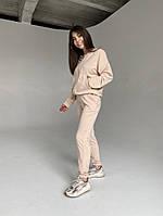 Спортивный женский костюм из двунити с кофтой на змейке (Норма), фото 9