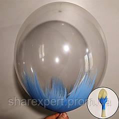 Голубой на Прозрачных латексных шарах