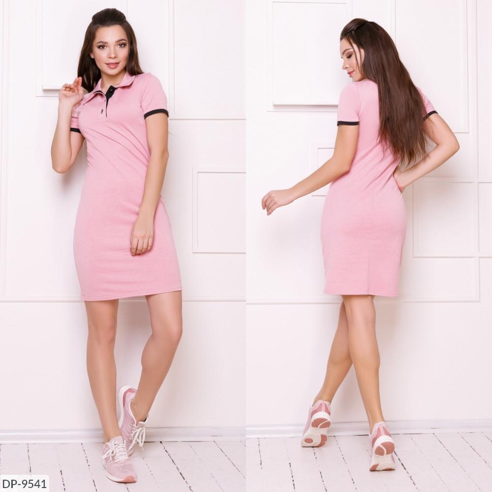 Платье поло, №214, пудра, с 42 по 46р