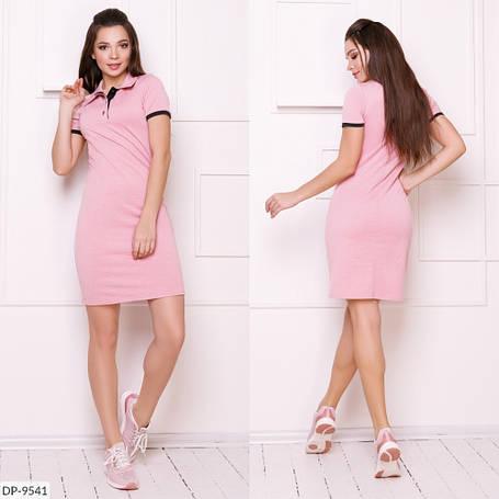 Платье поло, №214, пудра, с 42 по 46р, фото 2