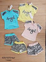 """Стильний костюм літній для дівчаток """"Angel"""" 1-4 років. Оптом. Туреччина"""