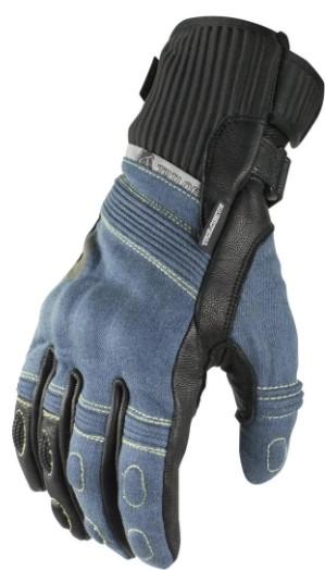 Мотоперчатки джинс / шкіра жіночі Trilobite 1840 Parado синій, S