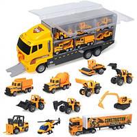 Игровой набор Coolplay Super Truck: грузовик со строительной техникой 11 в 1