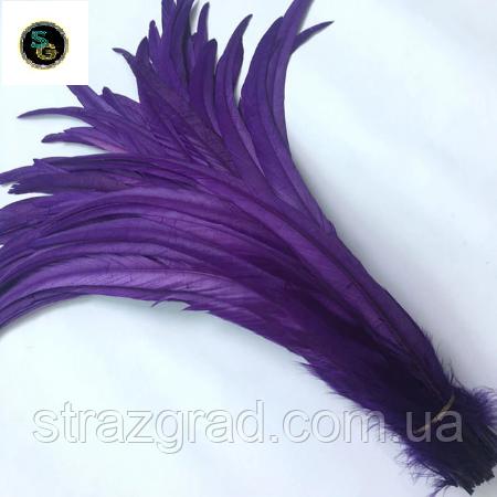 Пір'я півня Натуральні Декоративне перо Колір Фіолетовий 22-30см