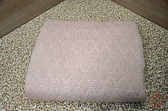 Покривало лляне 150х200 Ромби рожеві