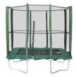 Батут KIDIGO 215х150 см. с защитной сеткой