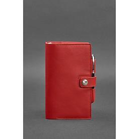 Женский кожаный блокнот (Софт-бук) 4.0 красный