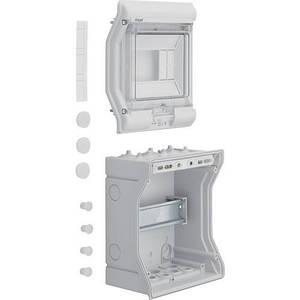 Щит розподільчий на 6 модулівй, з/у з прозорими дверцятами, IP65, VECTOR