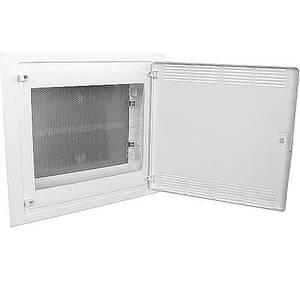 Щит 2-рядний для ММ-обладнання, в/у, білі пластикові перфоровані двері, GOLF