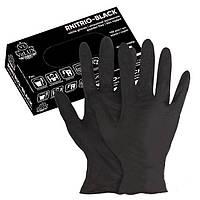 Перчатки нитриловые VitLux RNITRO черные (размер М), 50 пар
