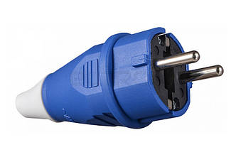 Вилка силова переносна ENERGIO 012(2P+PE) Schuko 16A 220В IP44