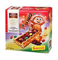 Печенье хрустящее с шоколадно- карамельной начинкой и ММДемсами Feiny Biscuits Caramel Schoko Riegel, 162 гр.