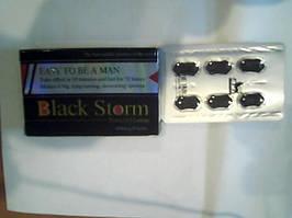 Таблетки для потенції Black Storm Блек Сторм сильний препарат для потенції і збільшення члена 6 табл.